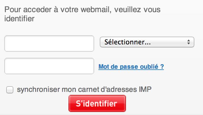 Alice Zimbra (Mail)  zimbra.aliceadsl.fr